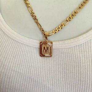 "Other - New 18k gold "" M "" necklace"